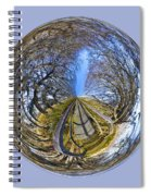 Wooden Bridge Orb Spiral Notebook