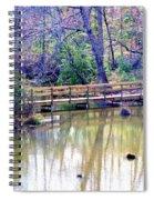 Wooden Bridge Over Pond Spiral Notebook