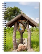 wooden shrine of holy Mother in Poland  Spiral Notebook