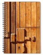 Wooden Door Detail Spiral Notebook