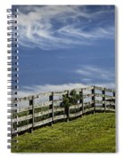 Wooden Farm Fence On Crest Of A Hill Spiral Notebook