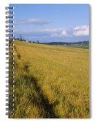 Wooden Fence Along A Farm, Ebeys Spiral Notebook