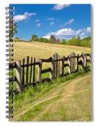 Wooden Fence In Green Landscape Spiral Notebook
