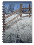 Wooden Fence Of A Friesian Horse Pasture On Windmill Island Spiral Notebook
