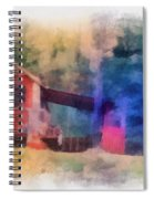Wooden Fishing Hunting Cabin Photo Art Spiral Notebook