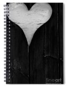 Wooden Heart Spiral Notebook