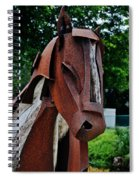Wooden Horse12 Spiral Notebook