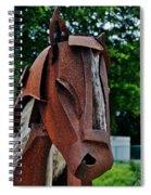 Wooden Horse13 Spiral Notebook