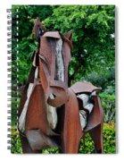 Wooden Horse16 Spiral Notebook