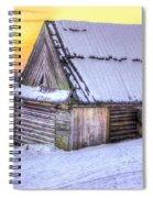 Wooden Hut In Sunset Spiral Notebook