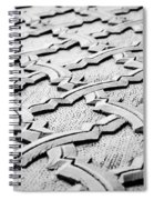 Wooden Islamic Carving Spiral Notebook