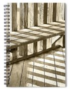 Wooden Lines - Semi Abstract Spiral Notebook