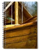 Wooden Mackinaw Boat Spiral Notebook