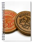 Wooden Nickels Spiral Notebook