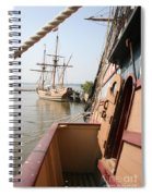 Wooden Sailingships Spiral Notebook