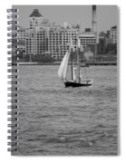 Wooden Ship On The Water Spiral Notebook