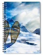 Wooden Snowshoes  Spiral Notebook