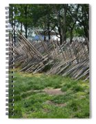 Wooden Spiked Fence Spiral Notebook