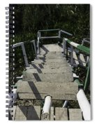 Wooden Steps Coming Down From A Watchtower Spiral Notebook