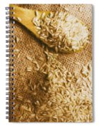 Wooden Tablespoon Serving Of Uncooked Brown Rice Spiral Notebook