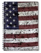 Wooden Textured U. S. A. Flag Spiral Notebook