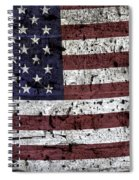 Wooden Textured U. S. A. Flag Spiral Notebook