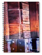 Wooden Wagon Side In Colors Spiral Notebook