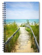 Wooden Walkway Over Dunes At Beach Spiral Notebook