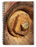 Wooden Wheel Hub Spiral Notebook