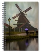 Wooden Windmill In Holland Spiral Notebook