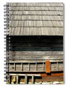 Wooden Window And Roof  Spiral Notebook