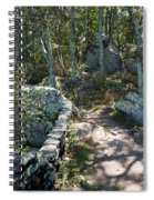 Woodland Path With Stone Wall Spiral Notebook
