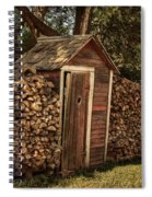 Woodpile And Shed Spiral Notebook