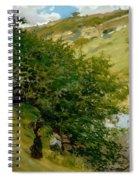 Woodpile In Landscape  Spiral Notebook