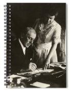 Woodrow And Edith Wilson Spiral Notebook