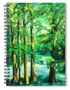 Woodside View Green Spiral Notebook