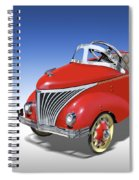 Woody Peddle Car Spiral Notebook