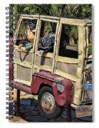 Woody Sculpture Spiral Notebook