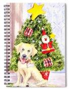 Woof Merry Christmas Spiral Notebook