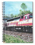 Worcester Bound T Train Spiral Notebook