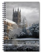 Worcester Cathedral Cloudy Spiral Notebook