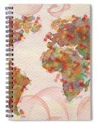Word Map Digital Art Spiral Notebook