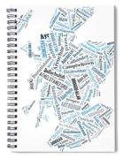 Wordcloud Of Scotland Spiral Notebook