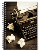 Words Punched On To Paper Spiral Notebook