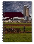 Working The Fields Spiral Notebook