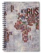 World Map Typography Artwork Spiral Notebook