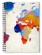 World Map 18 - Colorful Art By Sharon Cummings Spiral Notebook