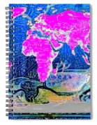 World Map And Aphrodite Spiral Notebook