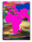 World Map And Human Life Spiral Notebook