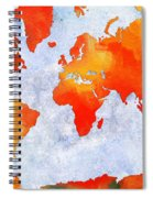 World Map - Citrus Passion - Abstract - Digital Painting 2 Spiral Notebook